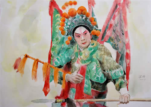 Warrior in Peking Opera